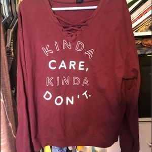 Kinda care kinda dont sweater